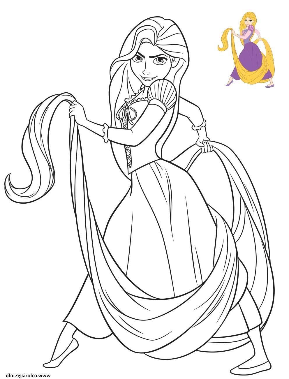 Coloriage Princesse Disney Raiponce dessin  Dessin raiponce