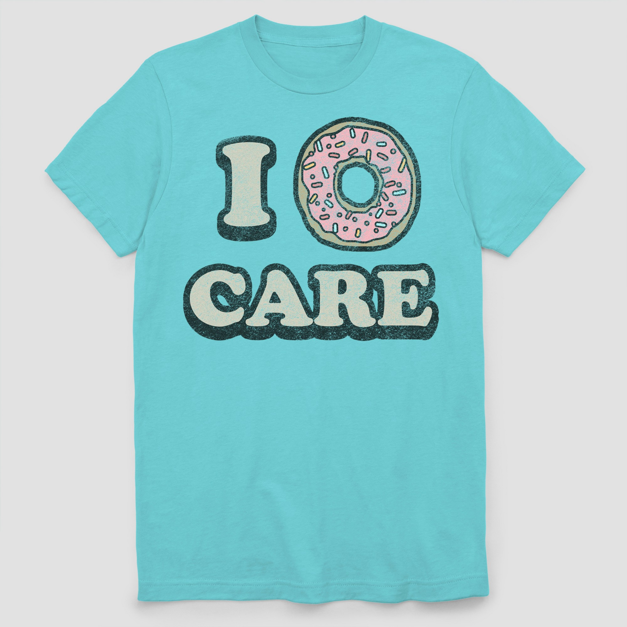 d8ac5cb1a Men's I Donut Care Short Sleeve Graphic T-Shirt - Light Blue 2XL ...