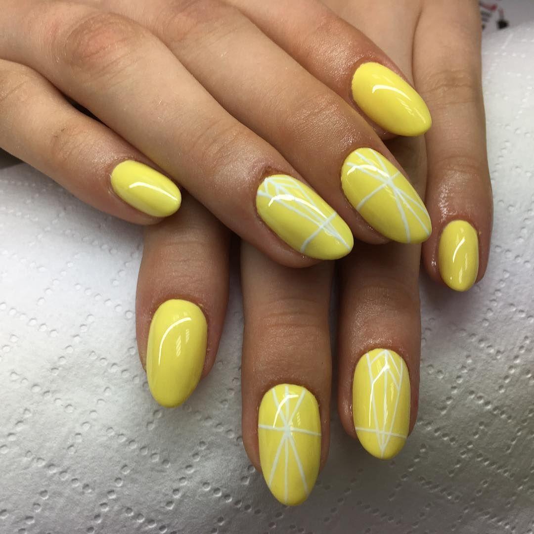 Manicure Nails Paznokcie Paznokciezelowe Zolte Yellownails