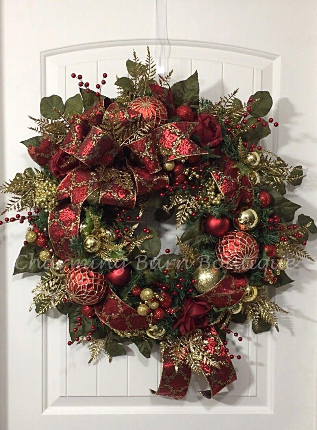 Christmas wreath winter wreath elegant christmas holiday wreath
