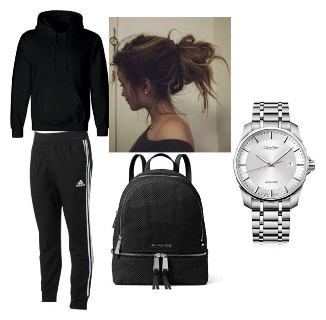 """""""lazy days"""" by benedictekabwasa on Polyvore featuring adidas, MICHAEL Michael Kors and Calvin Klein"""