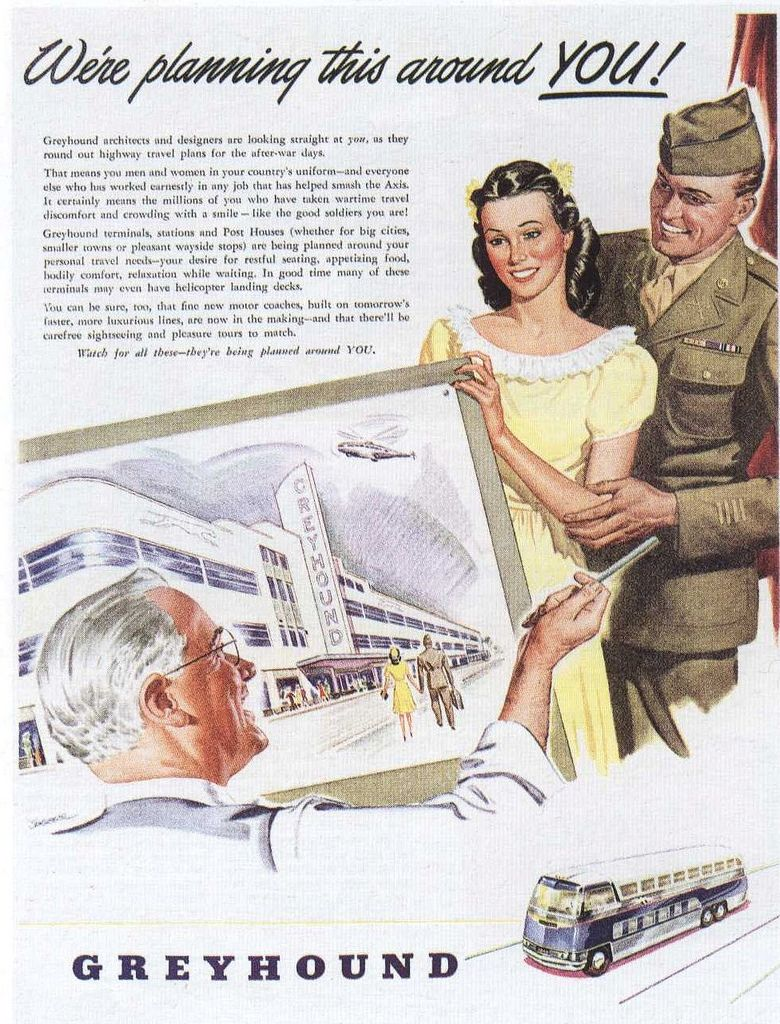 Ad for Greyhound 1945 | Explore