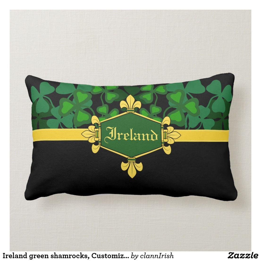 Ireland green shamrocks, Customize with name 5 Lumbar