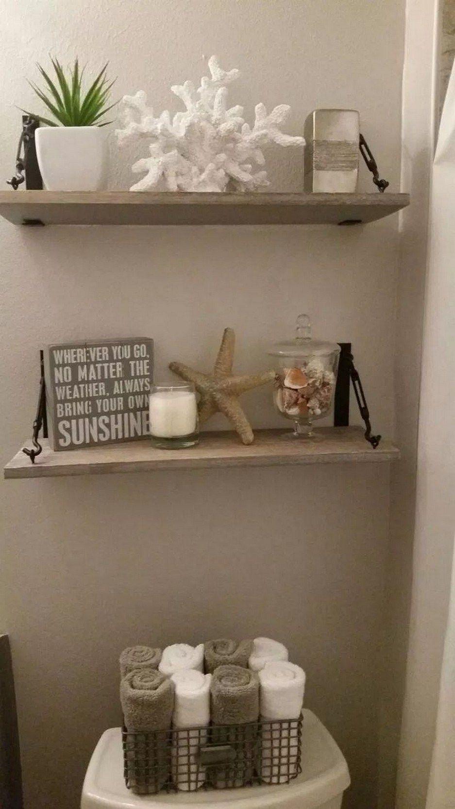 74 Fabulous Farmhouse Rustic Bathroom Shelves Storage Ideas
