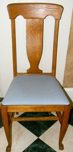 Antique Tiger Oak Dining Chair