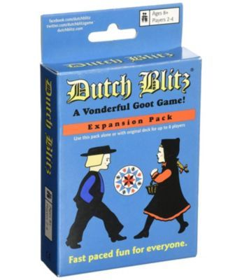 Dutch Blitz Original And Blue Expansion Pack Combo Card Game Set