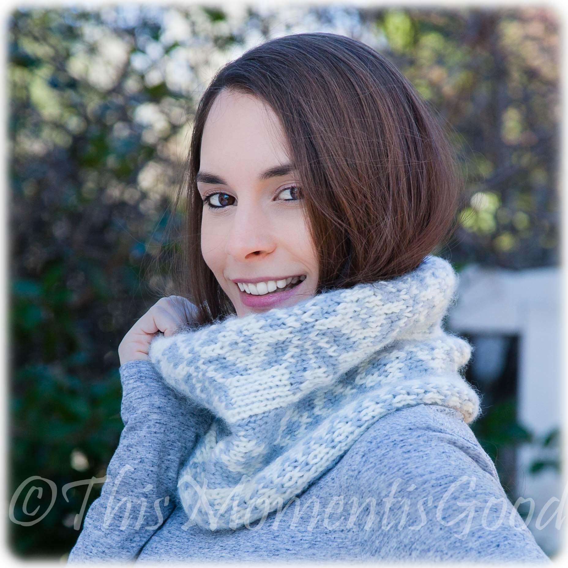 Loom Knit Fair Isle Cowl PATTERN. Extra Soft, Snowflake pattern ...