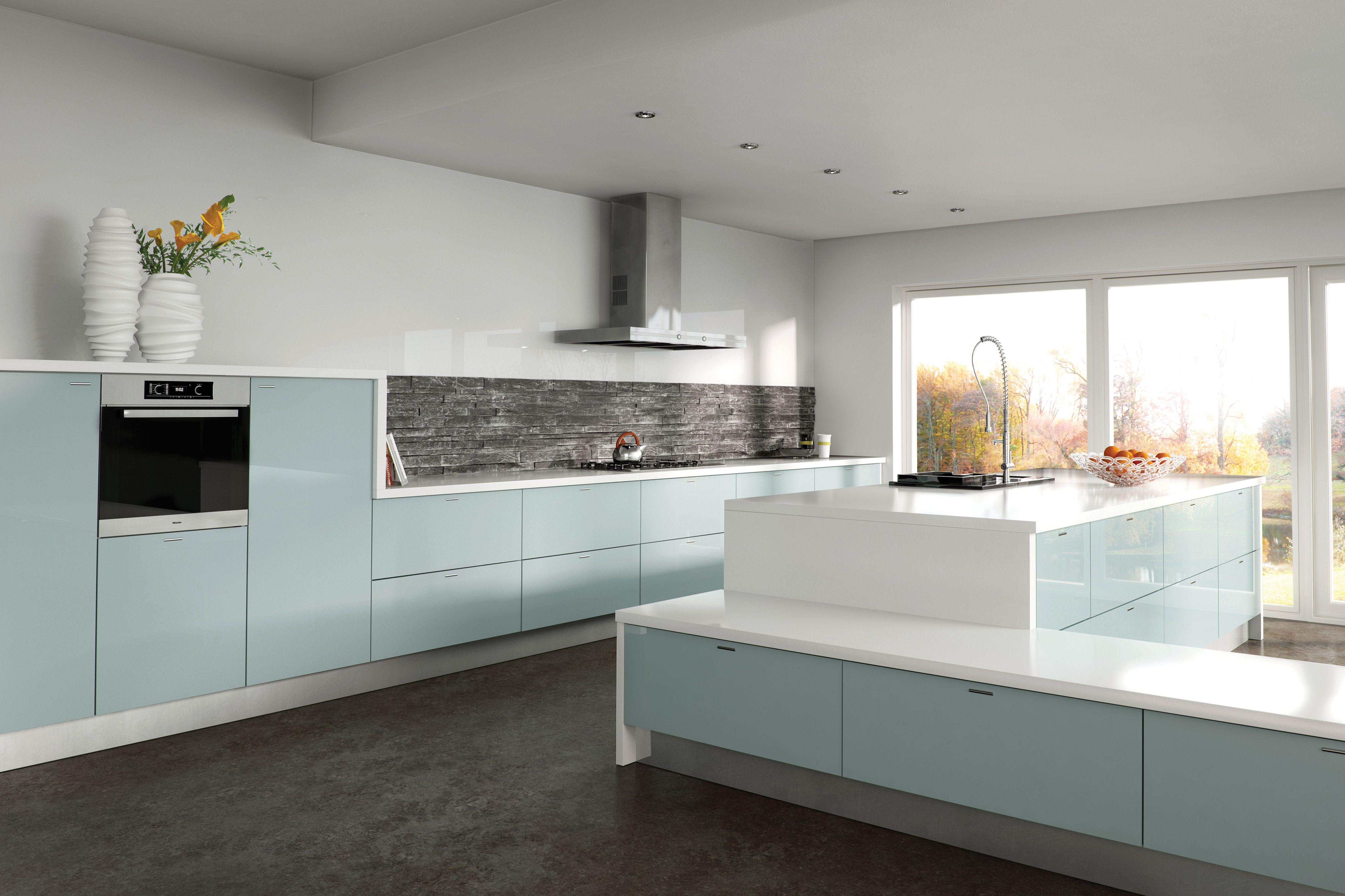 Zurfiz Metallic Blue High Gloss Acrylic Kitchen Doors Kitchen Design Modern Kitchen Furniture Kitchens And Bedrooms
