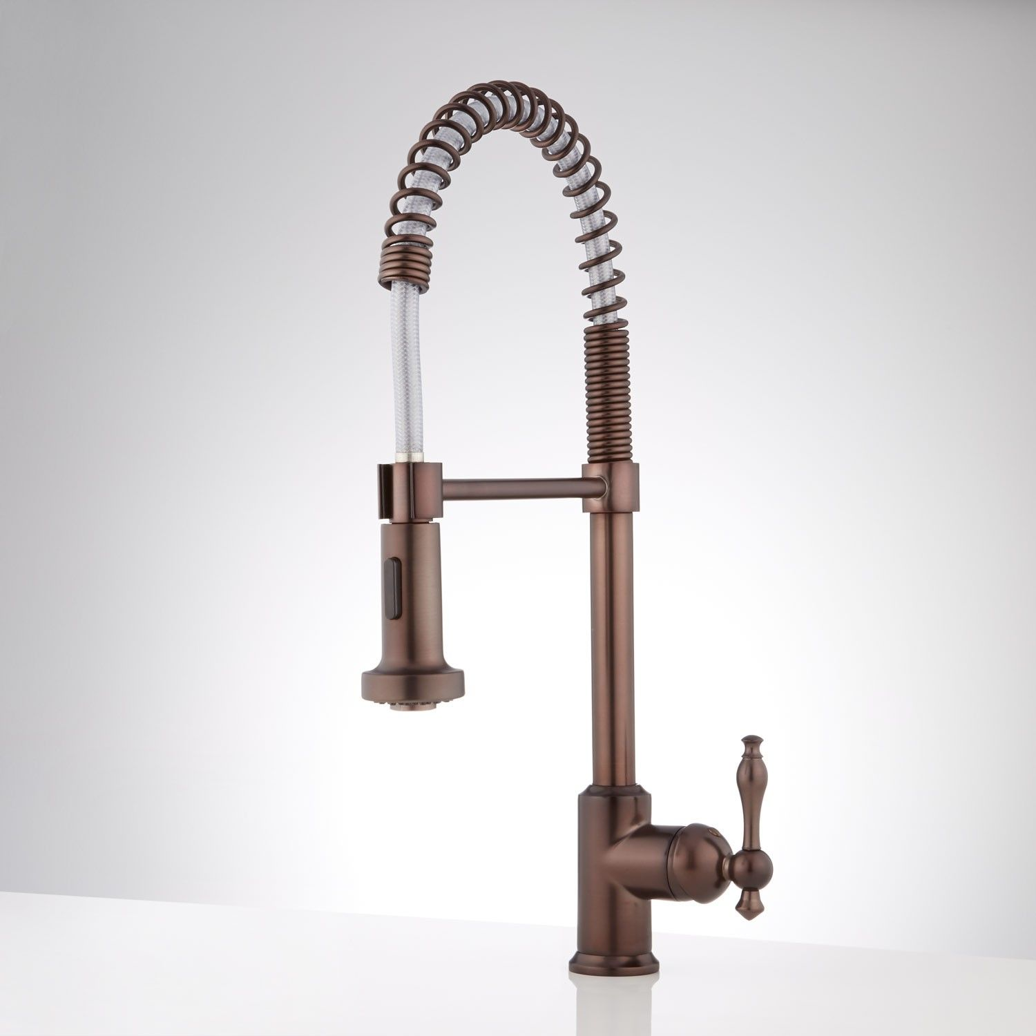 Grayson Single Hole Kitchen Faucet With Pull Down Spring Spout