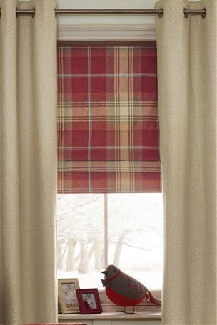 Buy Red Check Roman Blind From The Next Uk Online Shop