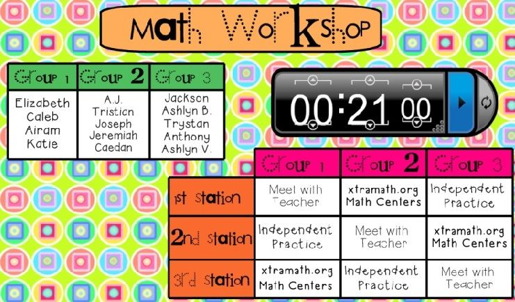 A Growing Class  Smart Board Rotation Schedules  Check  Math