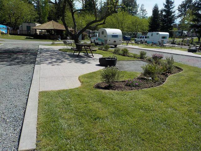 New Rv Patio Site At The San Francisco North Petaluma Koa Easy Landscaping Diy Koa Campgrounds Koa