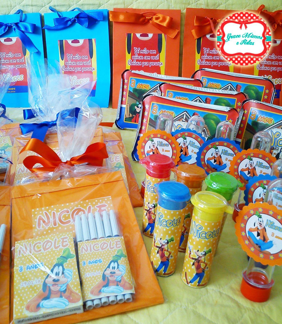 Lembrancinhas personalizadas com tema Pateta/Disney. Fazemos no tema de sua festa infantil! Encomende a sua! Seu filho vai amar!