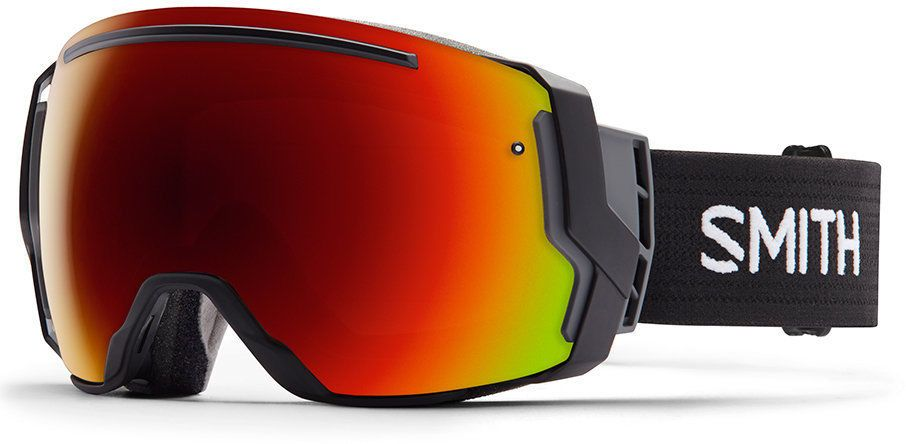 NEW Smith I/O7 Snowboard Ski Goggles Black Red Sol-X  & Blue Sensor Mirror Lens #SmithOptics