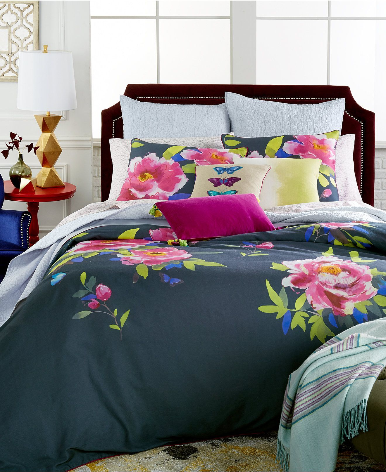 butterfly moonlight blue comforter and duvet sets bedding collections bed u0026 bath