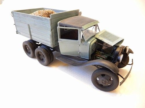 1930 Ford AA, converted from the the MiniArt Gaz AAA kit. By: EvanH