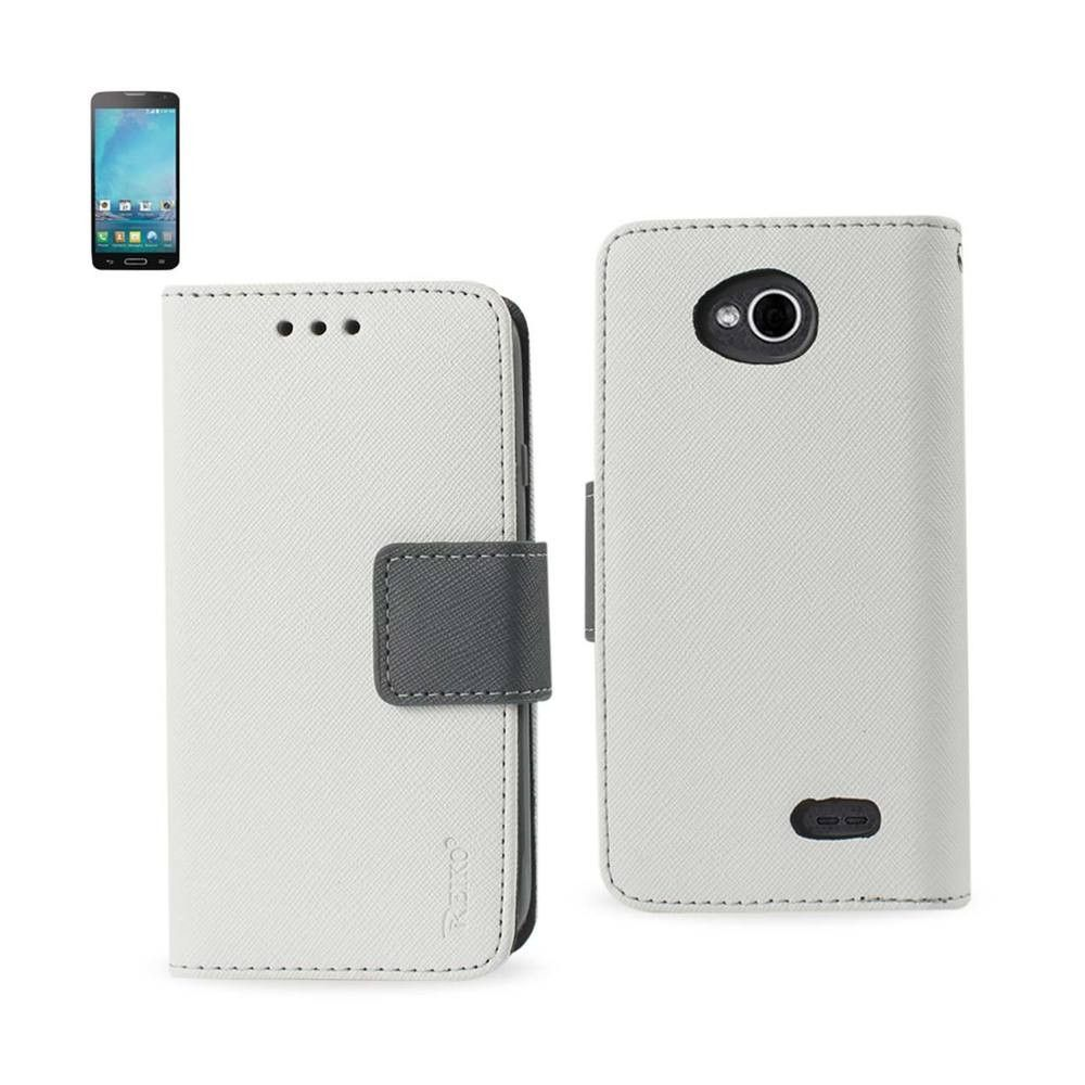 Reiko Fitting Case LG L90/ LG D405/ LG Optimus L90 White With Interior Leather-Like Material And Polymer Cover