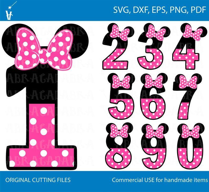 1 10 Numbers Svg Numbers Minnie Birthday Font Numbers Svg Etsy Minnie Mouse Clipart Minnie Minnie Mouse Birthday