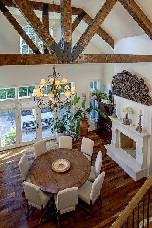 Blanco y maderahermoso Arquitectura e interiores Pinterest - Comedores De Madera