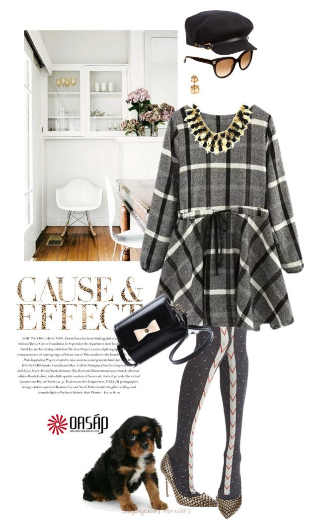 """Mad about plaid"" by pensivepeacock ❤ liked on Polyvore featuring Envi, Hansel from Basel, Brian Atwood, Valentino, DANNIJO and Burberry"