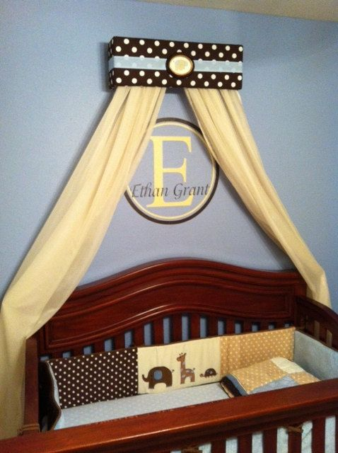 Prince Boy CRIB Nursery Crown BED Canopy Padded By SoZoeyBoutique, $49.97