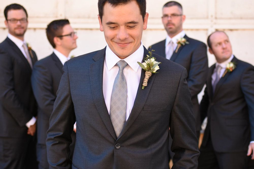 groom and groomsman attire
