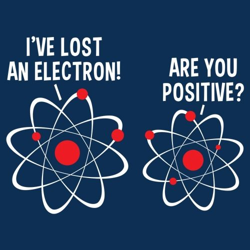 3f240394 I'VE LOST AN ELECTRON! ARE YOU POSITIVE? T-SHIRT | Makes Me Laugh ...