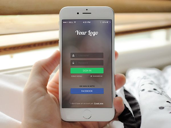 Free Mobile App Login Page PSD Template #freebies #freepsdfiles - best of invitation template psd file