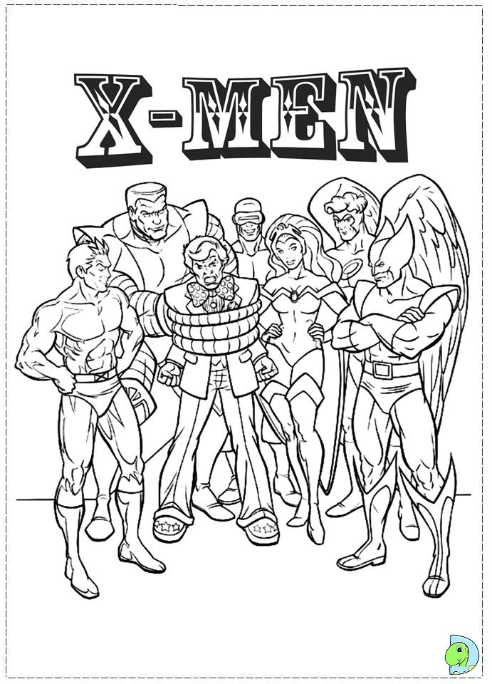 X Men Coloring Page Coloring Books Coloring Pages Colouring Pages