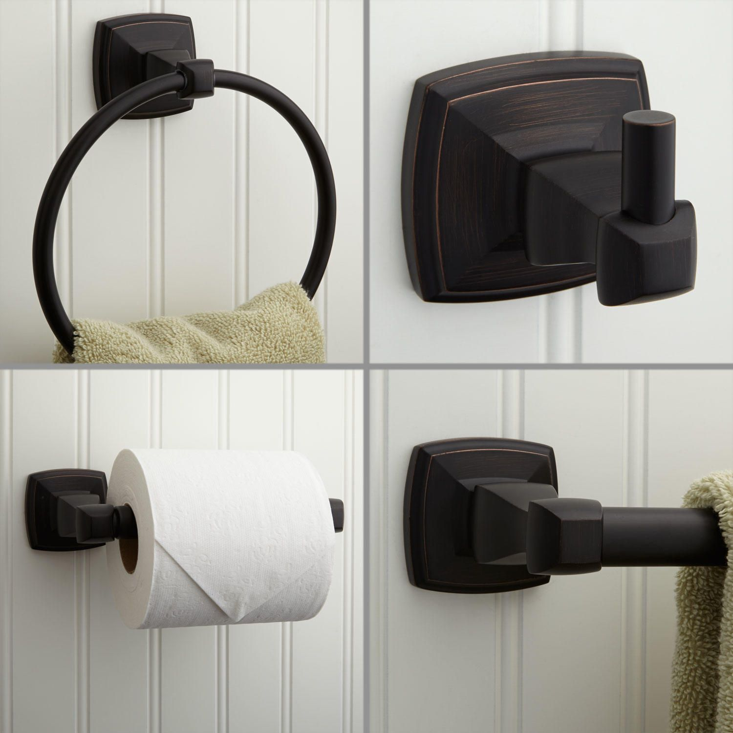 Rome 4 Piece Bathroom Accessory Set Oil Rubbed Bronze 63 24 Towel Bar