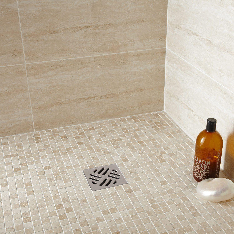 mosaque sol et mur mineral travertin ivoire est sur leroymerlinfr faites le bon choix en retrouvant tous les avantages produits de mosaque sol et mur - Mosaique Sol Salle De Bain