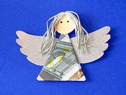 Als Geldgeschenk zu Weihnachten einen Engel basteln #kleineweihnachtsgeschenkekollegen