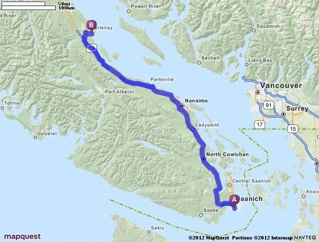Map Quest British Columbia Canada Driving Directions from Victoria, British Columbia to Comox