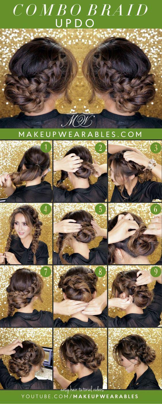 Cute Combo Braid Updo For Long Hair Long Hair Styles Easy Updos For Long Hair Hair Styles