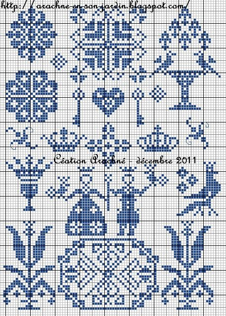 Toile royale chart - from Arachné en son jardin
