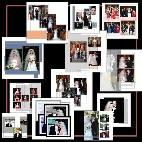 Photo Album Examples: Digital Wedding Album Or Photo Album Book Templates