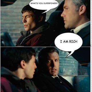 Because I'm Batman. Follow @9gag - - - #9gag #justiceleague #erzamiller #benaffleck #batman #flash #lol #L4L #F4F