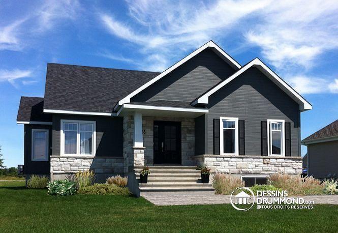 W3133-V6 - Modèle de maison Craftsman, à aire ouverte, foyer triple - liste materiaux construction maison