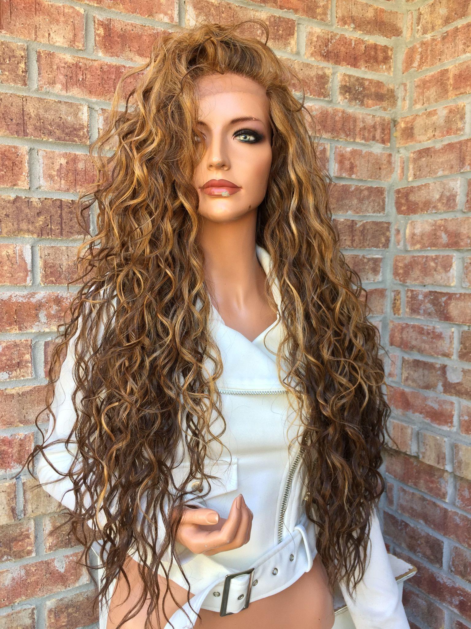 Dark Blonde Honey Balayage Human Hair Blend Multi Parting