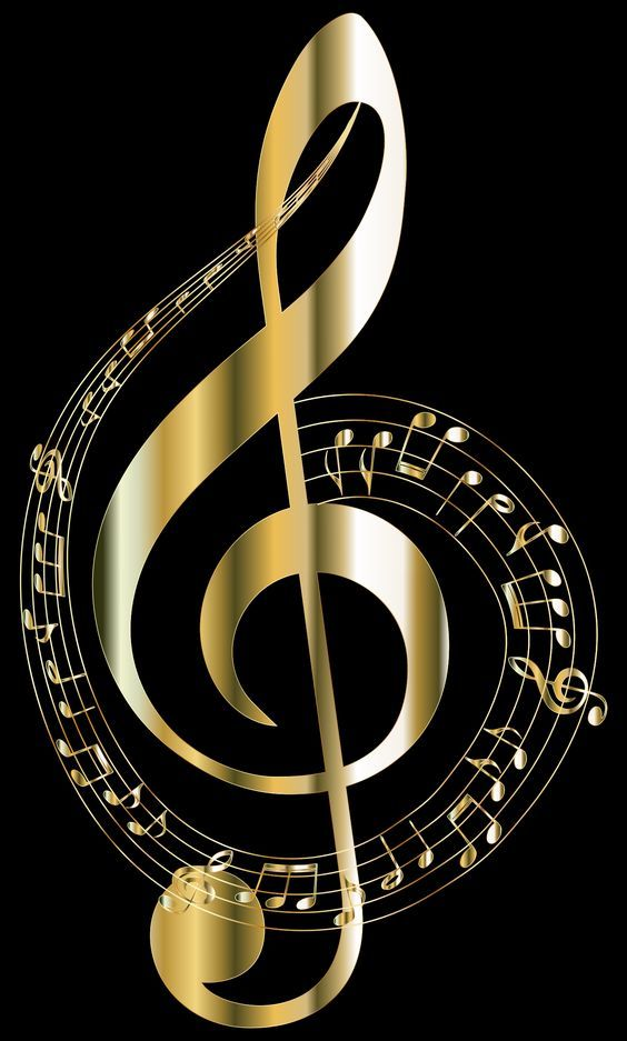 Gold Musical Notes Typography 2 With Images Music Pictures