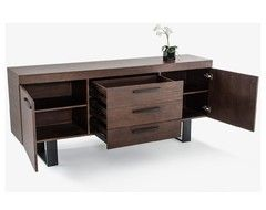 Modrest Lola Modern Walnut Buffet - Contemporary - Buffets And Sideboards - by Furniverse