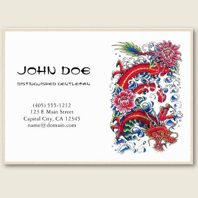 Cool oriental japanese red dragon god tattoo business card templates cool oriental japanese red dragon god tattoo business card templates by thegreatesttattooart wajeb Gallery