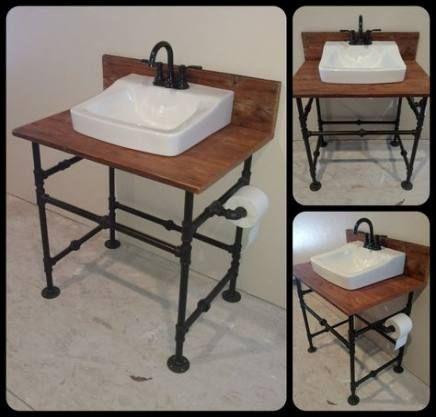Bath Room Wood Black Laundry Rooms 45 Ideas For 2019 Diy Bathroom Vanity Industrial Bathroom Vanity Industrial Sink Bathroom