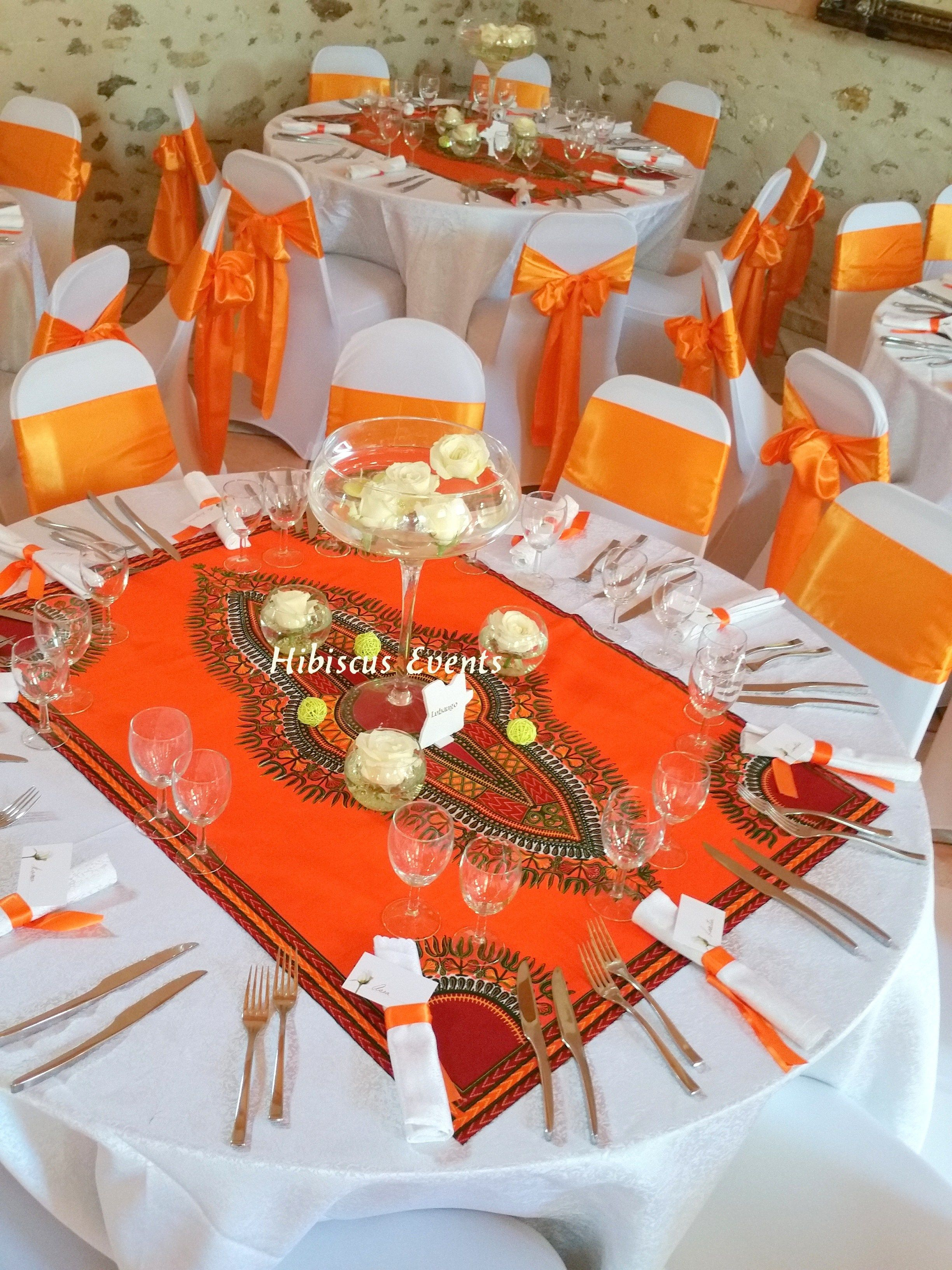 Chemin de table en wax tissus dashiki deco africaine