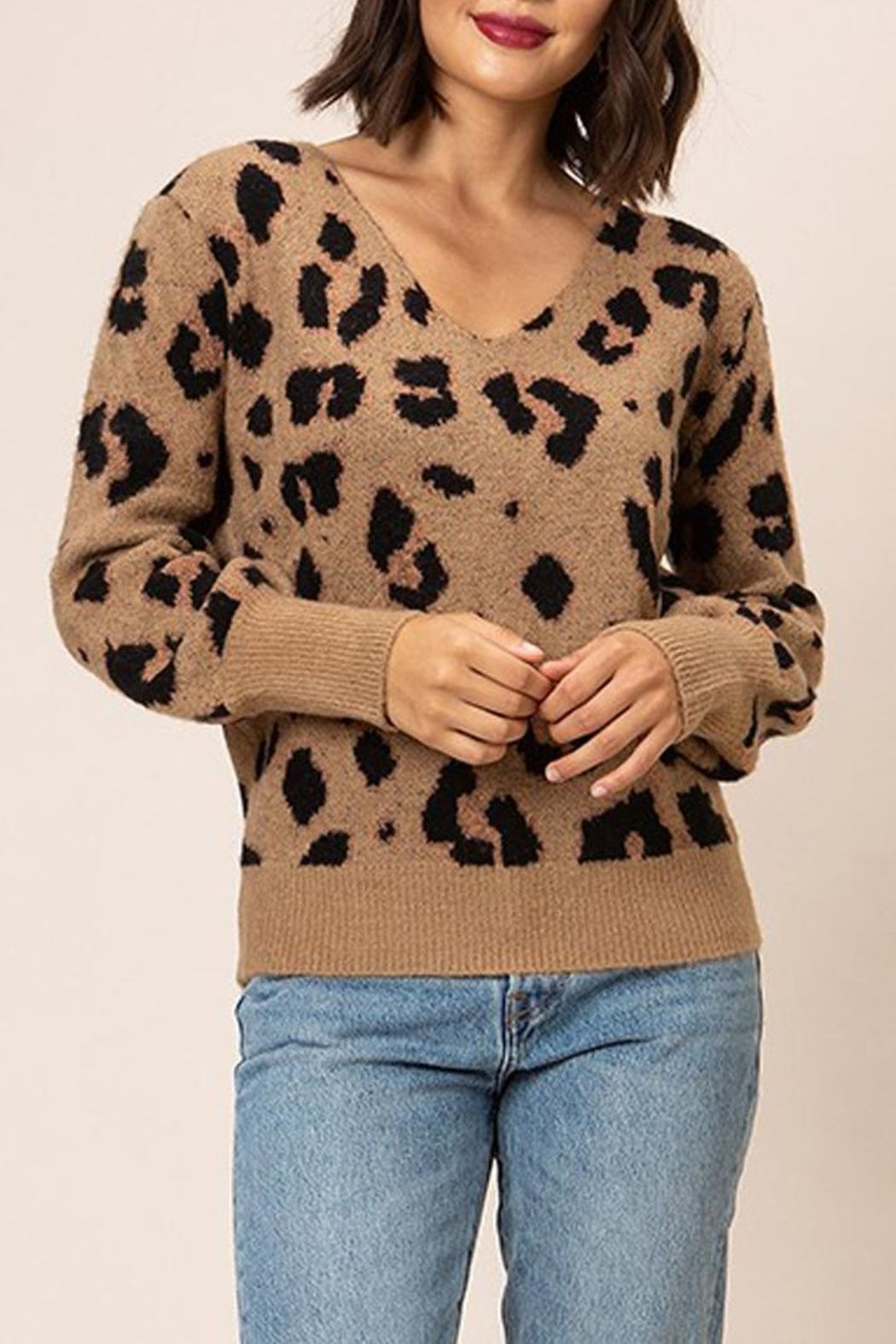 67238b9075 Who doesn t love a leopard print sweater!