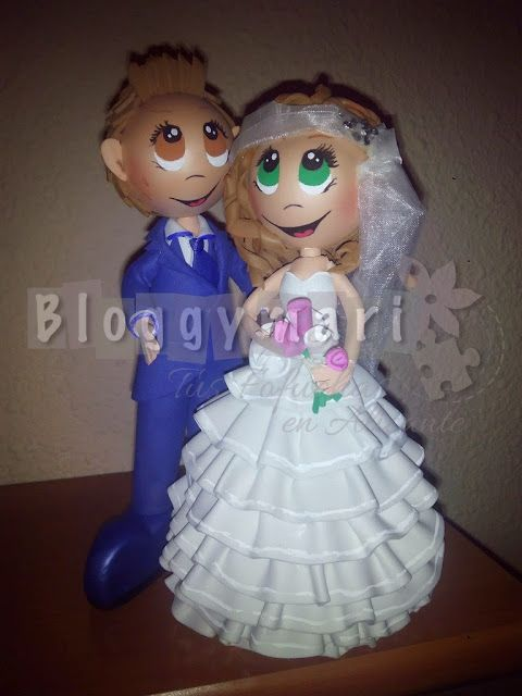 Fofuchas Artesanas Bloggymari: Novios Jessica y Jose