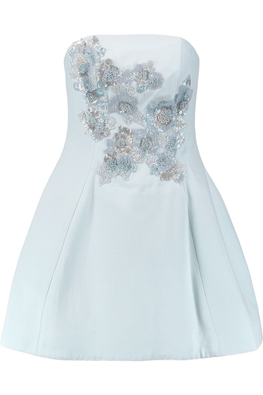 a6af45d843a Shop on-sale Marchesa Notte Embellished cotton and silk-blend mini dress .  Browse other discount designer Dresses   more on The Most Fashionable  Fashion ...