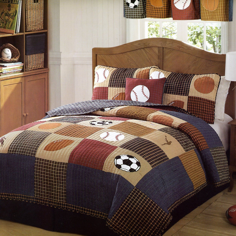 Boys sports bedding sets full - Vintage Sports Boys Bedding Decoration Bedding Sets For Boys Basketball Theme