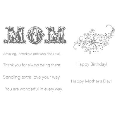 Messages For Mom  Clear Mount Stamp 118580 Regular Price 2106