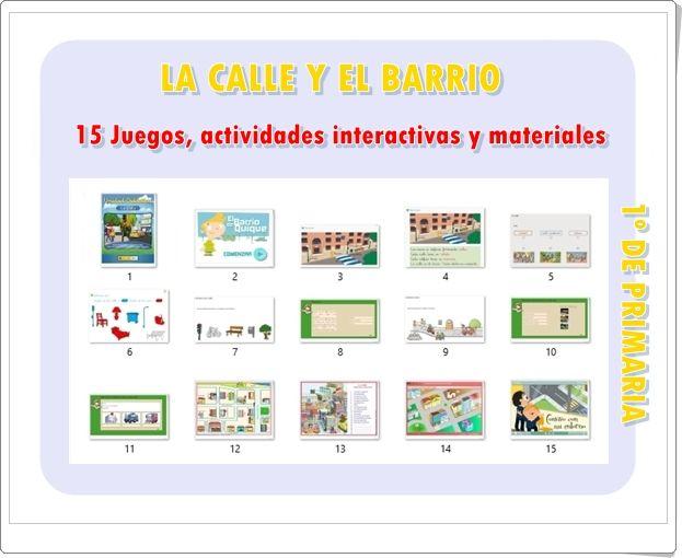 La Calle Y El Barrio 15 Juegos Actividades Interactivas Y Materiales Didácticos De 1º De Primaria Actividades Interactivas Actividades Juegos De Barrio